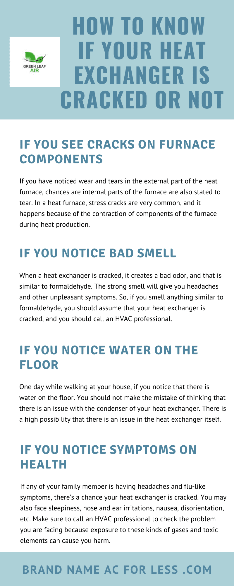 How to Know If Your Heat Exchanger Is Cracked Or Not