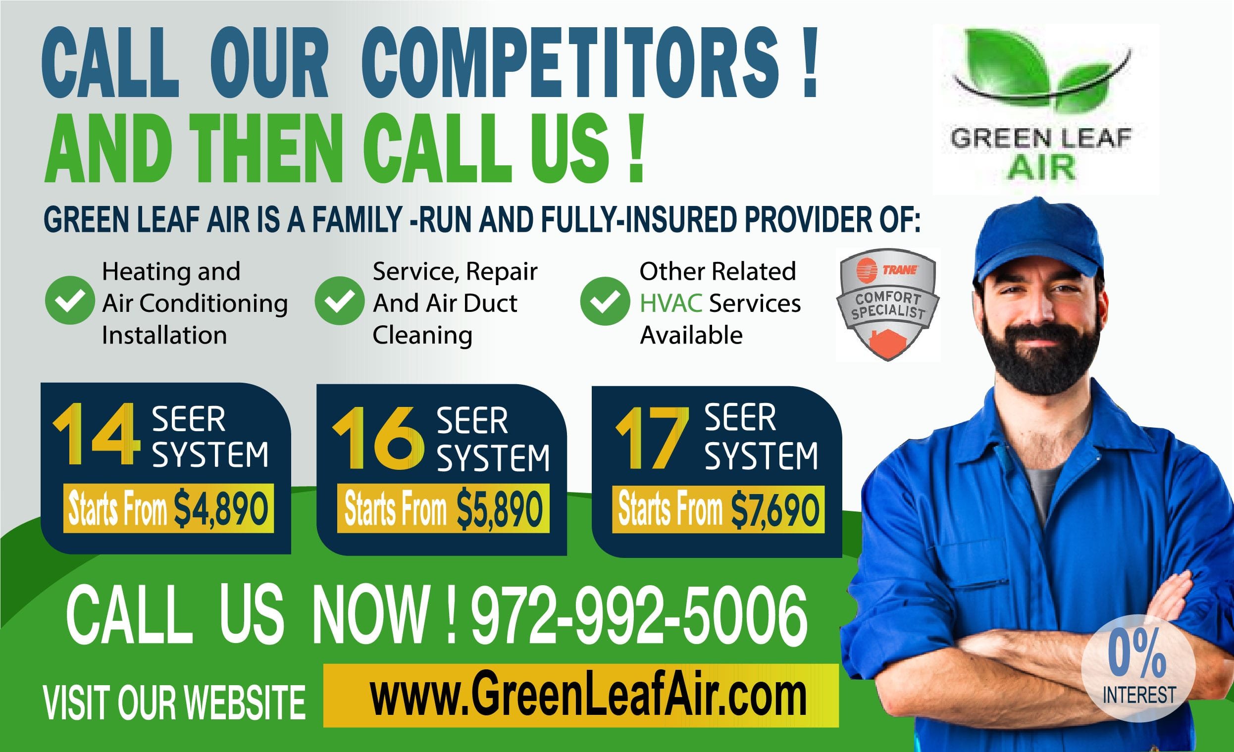 Green Leaf Air com Banner