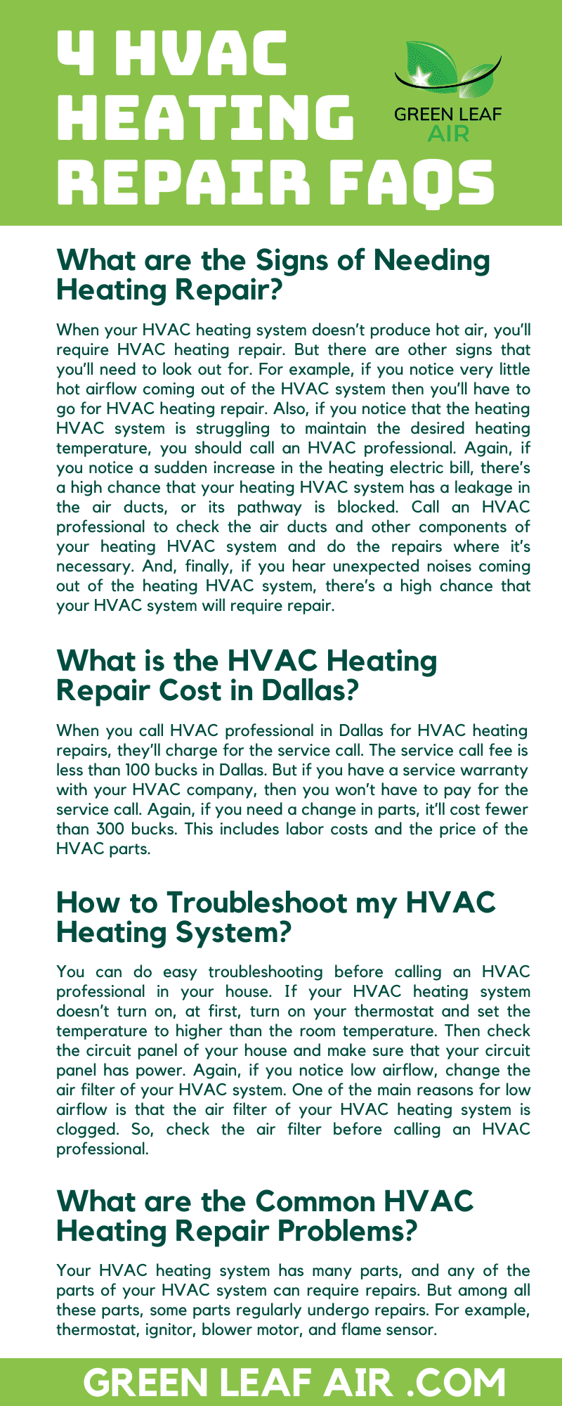 4 HVAC Heating Repair FAQs