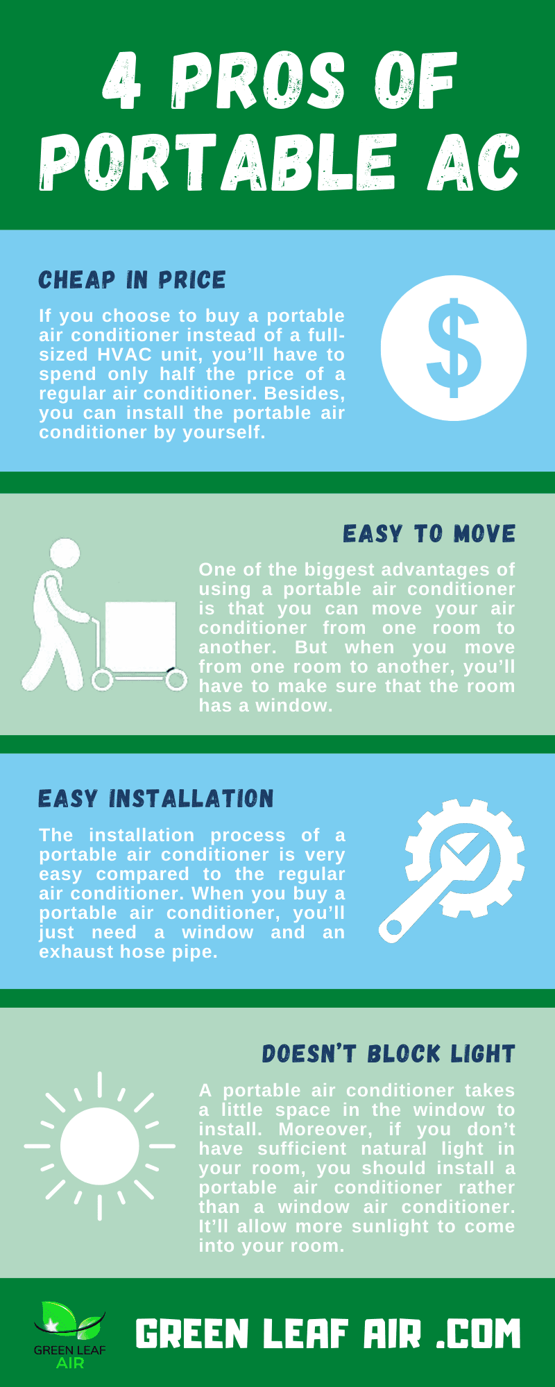 4 Pros of Portable AC