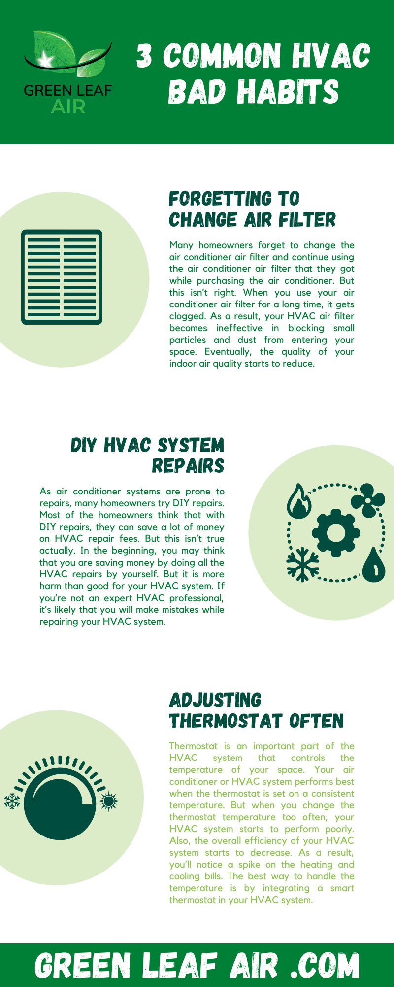 3 Common HVAC Bad Habits