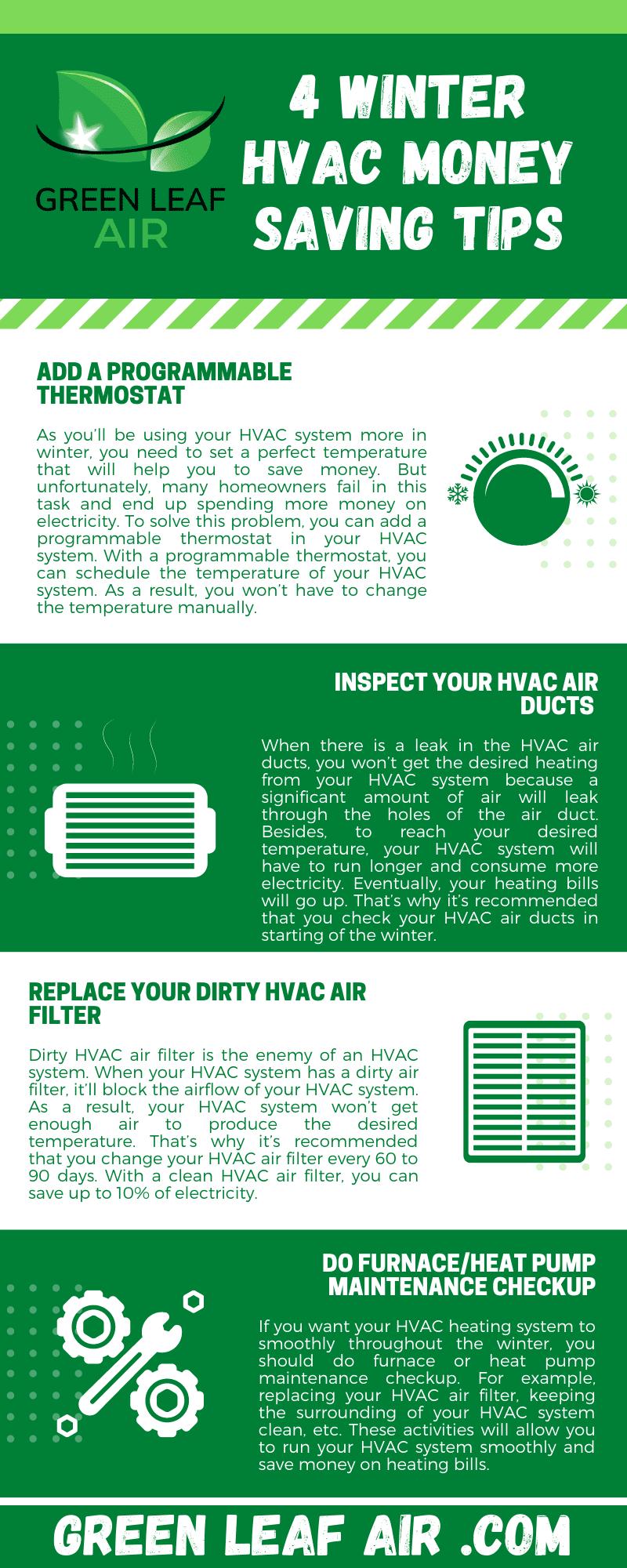 4 Winter HVAC Money Saving Tips